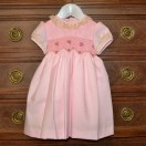 Pink Hand Smocked-Embroided Dress