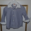 Stripy shirt in Navy And White