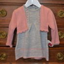 Dress And Cardigan Grey And Salmon (Set)
