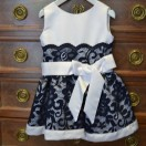 White And Navy Dress (Lace)