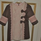 Brown/ Pink dress (Lace)