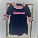 Navy And Pink Dress